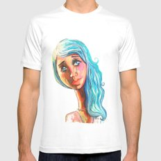 She'd be standing next to me.  SMALL Mens Fitted Tee White