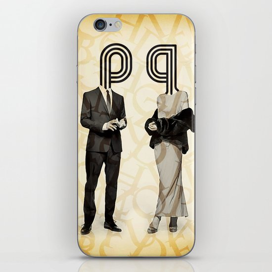 Mr P and Mrs Q iPhone & iPod Skin