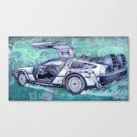 Back To The Future Delor… Canvas Print