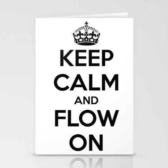 Keep Calm  Stationery Card