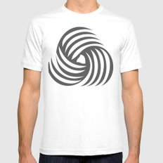 wirbelnde sonne White Mens Fitted Tee SMALL