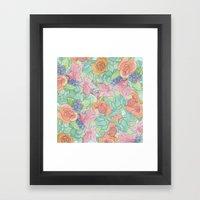 Southwestern Floral  Framed Art Print
