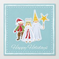 Happy Holidays says Saint Lucia Canvas Print