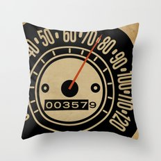 Speed-O! Throw Pillow