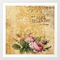 Vintage Roses #2 Art Print
