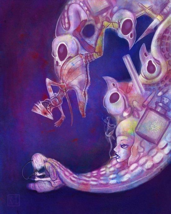 Brain Vomit Art Print