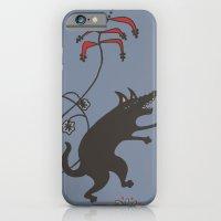 Black Dog Dancing in a Gorey Garden iPhone 6 Slim Case
