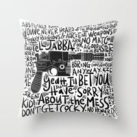 GOOD BLASTER Throw Pillow