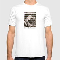 Untitled, Charcoal And W… Mens Fitted Tee White SMALL