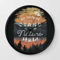 Go Outside and Stand in Nature Wall Clock
