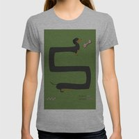 Dachshund Womens Fitted Tee Athletic Grey SMALL