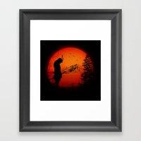 My Love Japan / Samurai warrior Framed Art Print