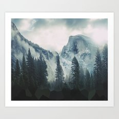 Cross Mountains Art Print