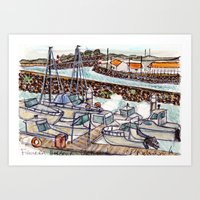 The Harbour 2, Figueira Da Foz, Portugal Art Print