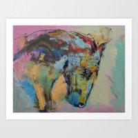 Horse Study Art Print
