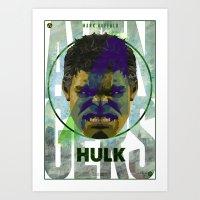 AVENGERS : HULK PRINT Art Print