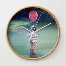 Red Balloon Wall Clock