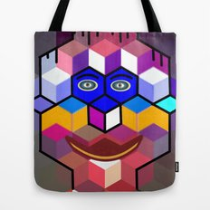 cube face Tote Bag
