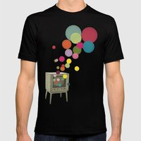 Colour Television Mens Fitted Tee Black SMALL