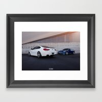 BMW M6 And Nissan GT-R Framed Art Print