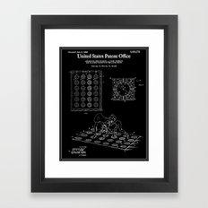 Twister Patent - Black Framed Art Print