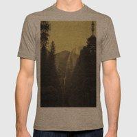 Yosemite Falls Tin Yello… Mens Fitted Tee Tri-Coffee SMALL