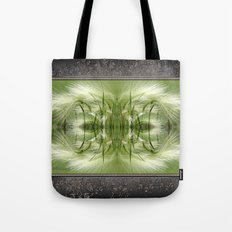 Hordeum Jubatum Abstract Tote Bag