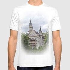 Neuschwanstein Castle White Mens Fitted Tee SMALL