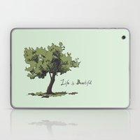 Life Is Beautiful Olive … Laptop & iPad Skin
