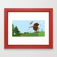 The Bear goes to the City Framed Art Print