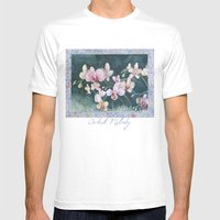 Orchid Melody Mens Fitted Tee White SMALL