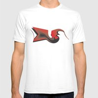 Crowish Mens Fitted Tee White SMALL