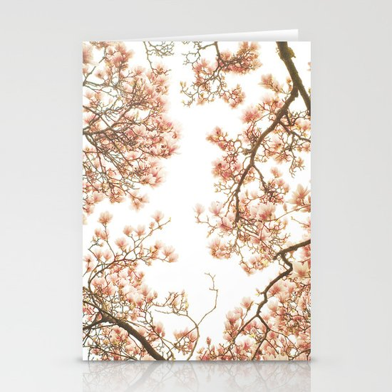 Magnolia Tree Looking Up Stationery Card