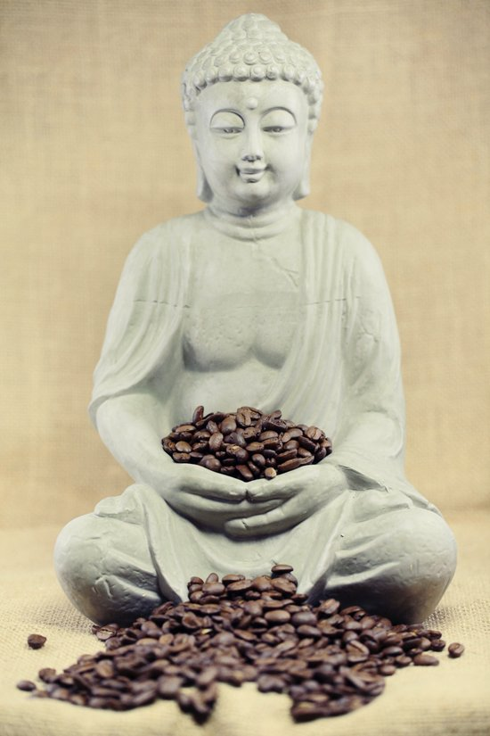 Coffee beans Buddha 3 Art Print