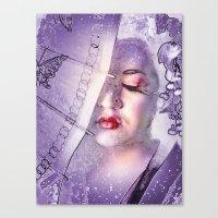 The Geisha With White Hair Canvas Print