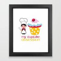 Cupcake Obsession Framed Art Print