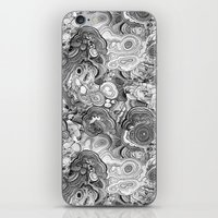 Malachite Black And Whit… iPhone & iPod Skin