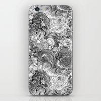 Malachite black and white iPhone & iPod Skin