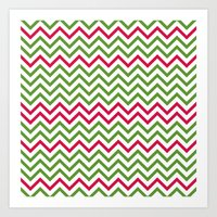 Graphic Holiday Pattern Art Print