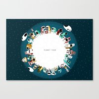 Planet Four Canvas Print