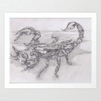 emperor scorpion Art Print