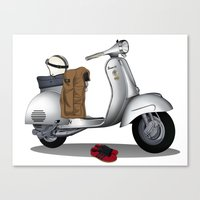 Vespa GS & Casual Stuffs Canvas Print