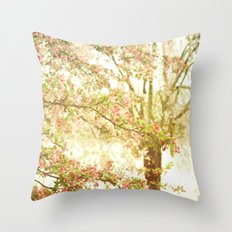She Dreamed of Flowers in Her Hair Throw Pillow