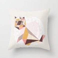 Geometric Cat Throw Pillow