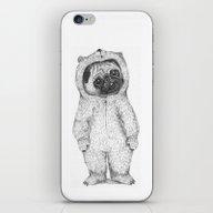 Winter Pug iPhone & iPod Skin