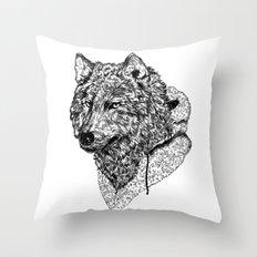 Mr Wolf Throw Pillow