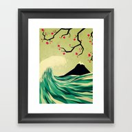 Framed Art Print featuring Falling In Love by Yetiland