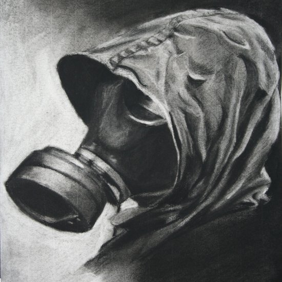 The Gas Mask Art Print
