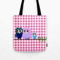Pretty Owls  Tote Bag
