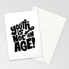 youth is not an age Stationery Cards